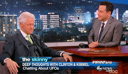 """I Had All the Roswell [UFO] Papers Reviewed – Everything,"" said Former President Bill Clinton on Jimmy Kimmel Live"