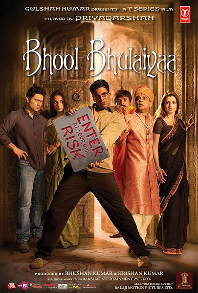 Poster of Bhool Bhulaiyaa 2007 Hindi 720p BRRip Full Movie Download