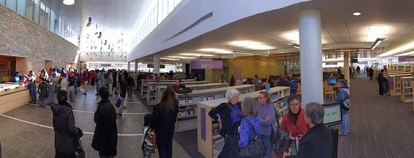 Gaithersburg Library wide-angle view