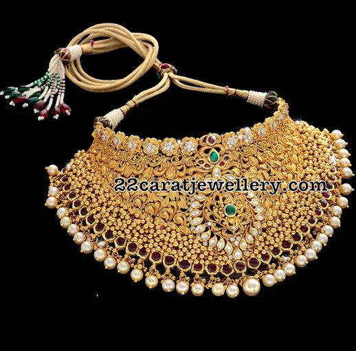 22 carat Gold Kundan Choker 130 grams