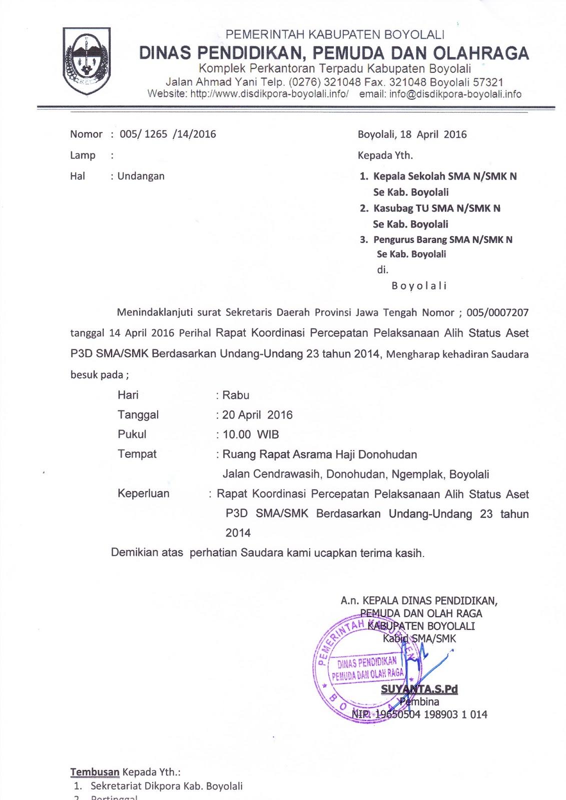INFO SMA SMK KABUPATEN BOYOLALI: UNDANGAN RAPAT KOORDINASI ...