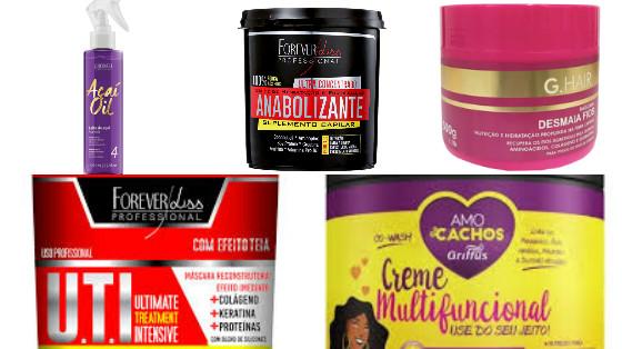 produtos de cabelo low poo com colageno