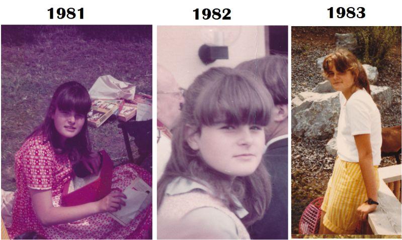 Ich in meinen frühen Teenagertagen