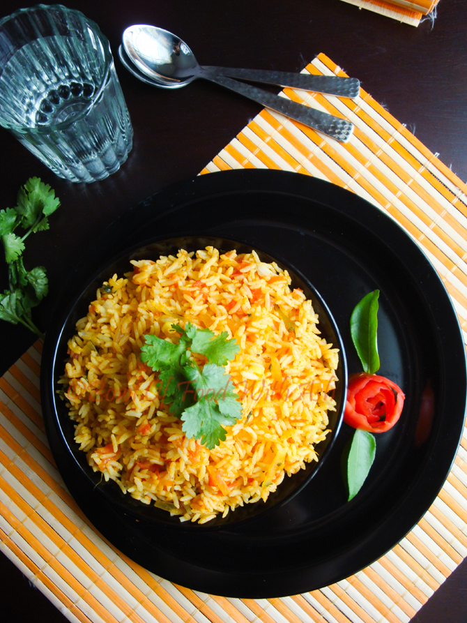 Tomato Rice Recipe | How To Make South Indian Style Tomato Rice