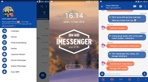 Download BBM Mod Imessenger v9.1.0.10 [Based 3.2.0.6] Terbaru Gratis
