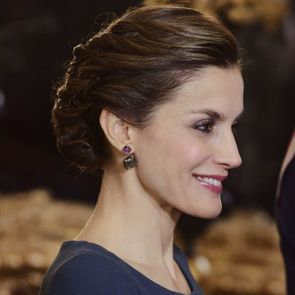 Queen Letizia of Spain attended the Epiphany Day celebrations (Pascua Militar) at the Palacio Real