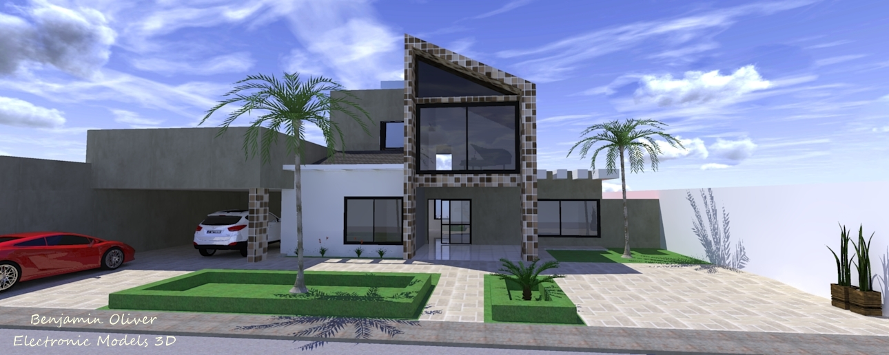 casas modernas fachadas 3d desenho 3d casa moderna