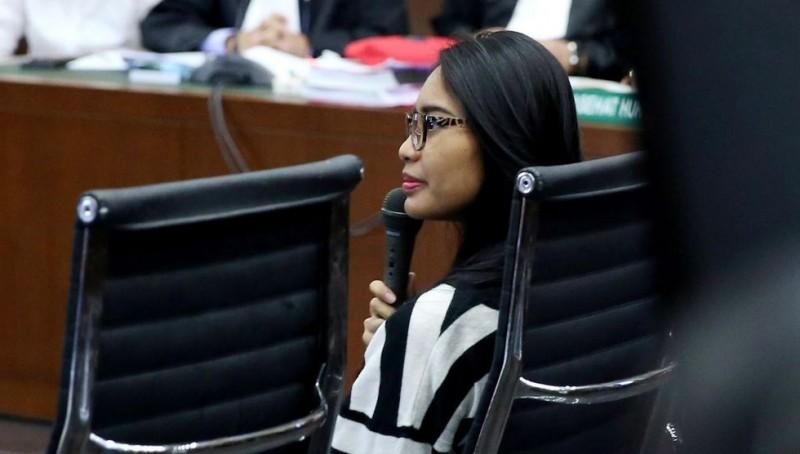 Pegawai Kafe Olivier, Aprilia Cindy menjadi saksi di sidang Jessica