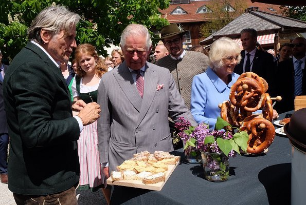 The Prince of Wales and The Duchess of Cornwall visited the Herrmannsdorfer Organic Farm