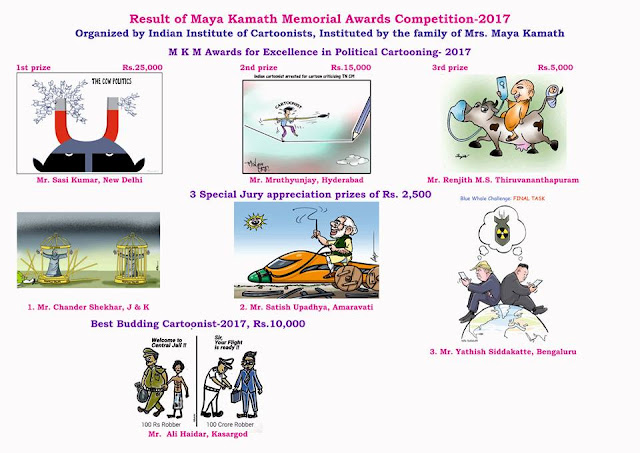 Result of Maya Kamath Memorial Awards Competition 2017, India