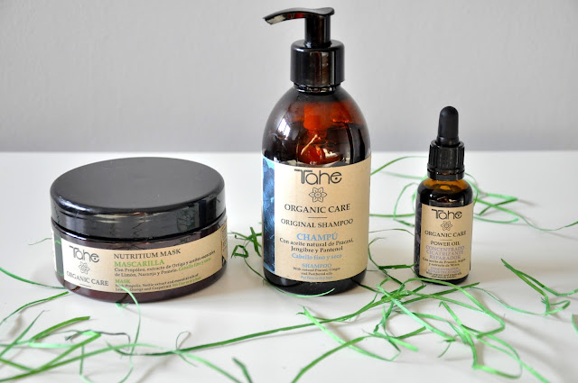 szampon, maska i olejek tahe organic care