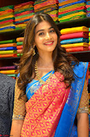 Puja Hegde looks stunning in Red saree at launch of Anutex shopping mall ~ Celebrities Galleries 004.JPG