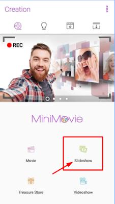 MiniMovie से Slideshow Video कैसे बनाये