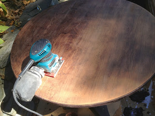 how to refinish a round game table