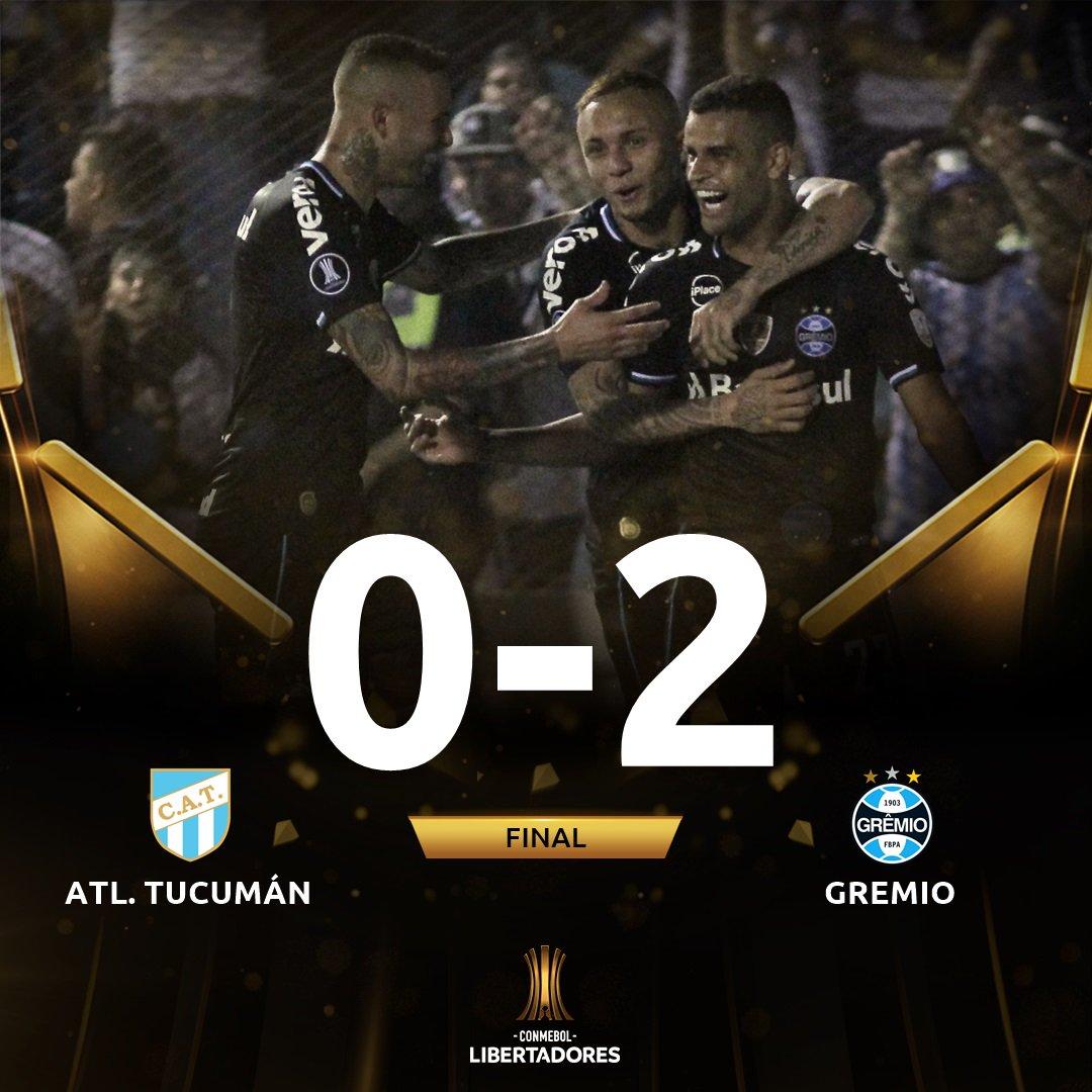 Grêmio derrota Tucumán e está com um pé na semifinal da Libertadores ... d5b7ee14fae73