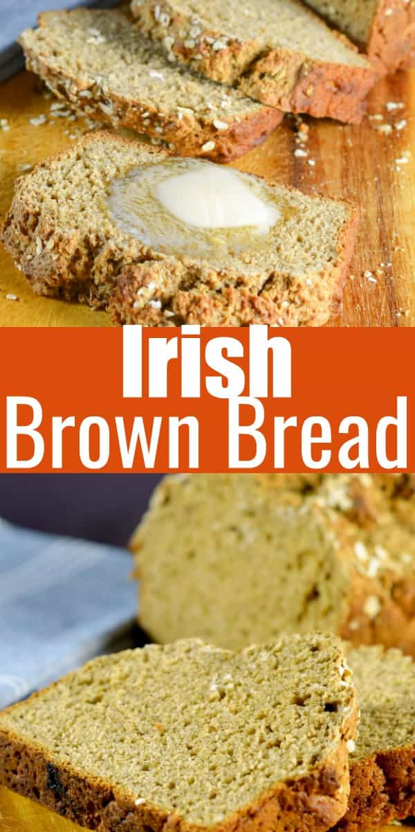 Delicious Irish Brown Bread recipe with Guinness and buttermilk for a delicious easy loaf to make all year around. A great quick bread recipe for an easy side, toasted for breakfast, or hearty sandwich loaf from Serena Bakes Simply From Scratch.