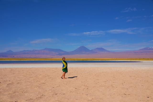 Brasil deixando a sua marca na Laguna Cejar