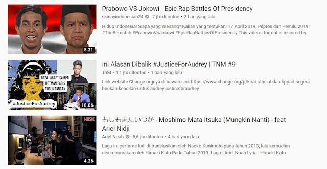 Ariel Noah Masuk Top 3 Trending di YouTube dengan Lagu Bahasa Jepang!