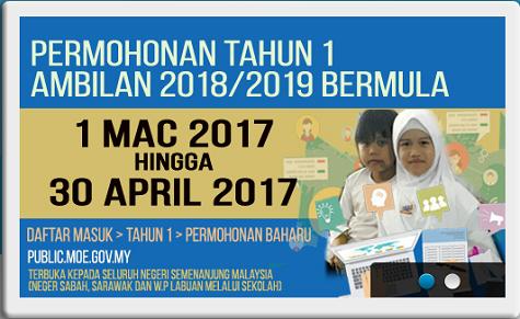 Panduan Pendaftaran Tingkatan 1 Tahun 1 2019 Online Pendidikanmalaysia Com