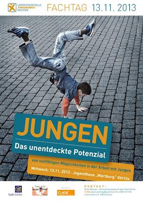 Fachtag Jungen - Das unentdeckte Potenzial am 13.11.2013 im Jugendhaus Wartburg Görlitz