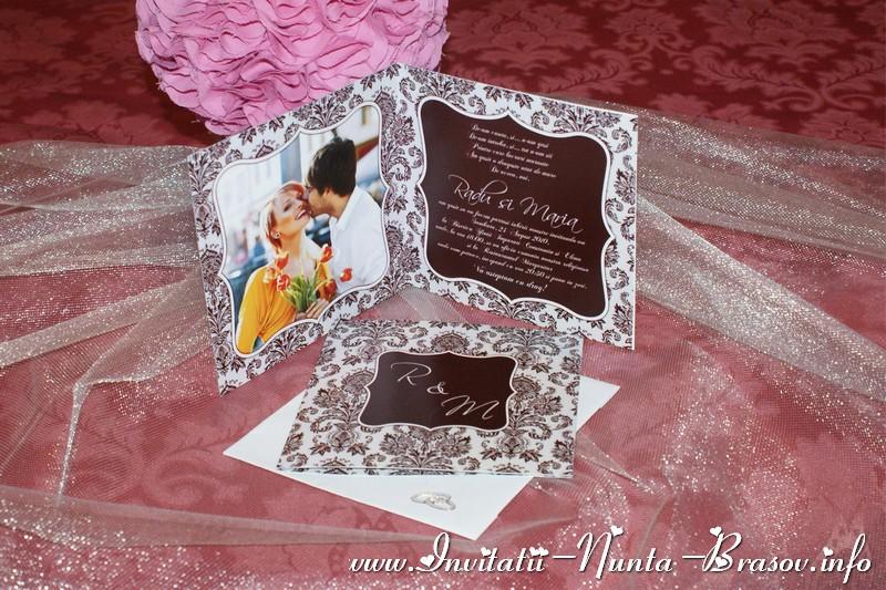 Invitatii De Nunta Personalizate Invitatie De Nunta Damasc Cu Poza