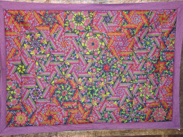 Ugly fabric one block wonder quilt