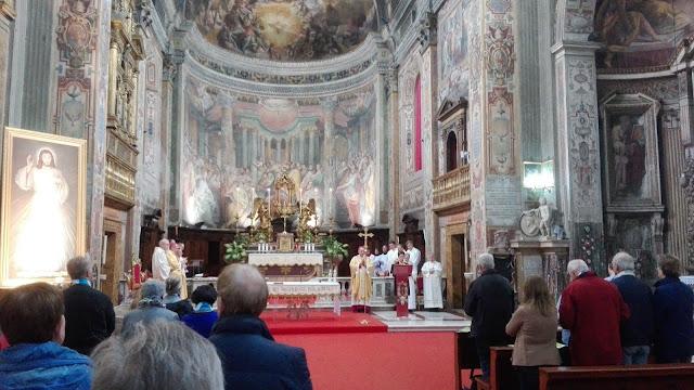 Viering van de mis in de Santo Spirito, Sassia