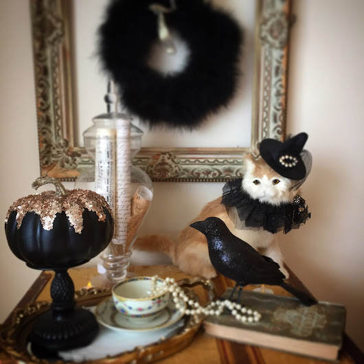 Decorating for Halloween: Black & White Magic