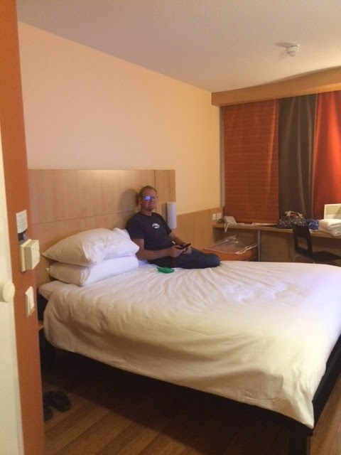 room at Ibis at Birmingham airport
