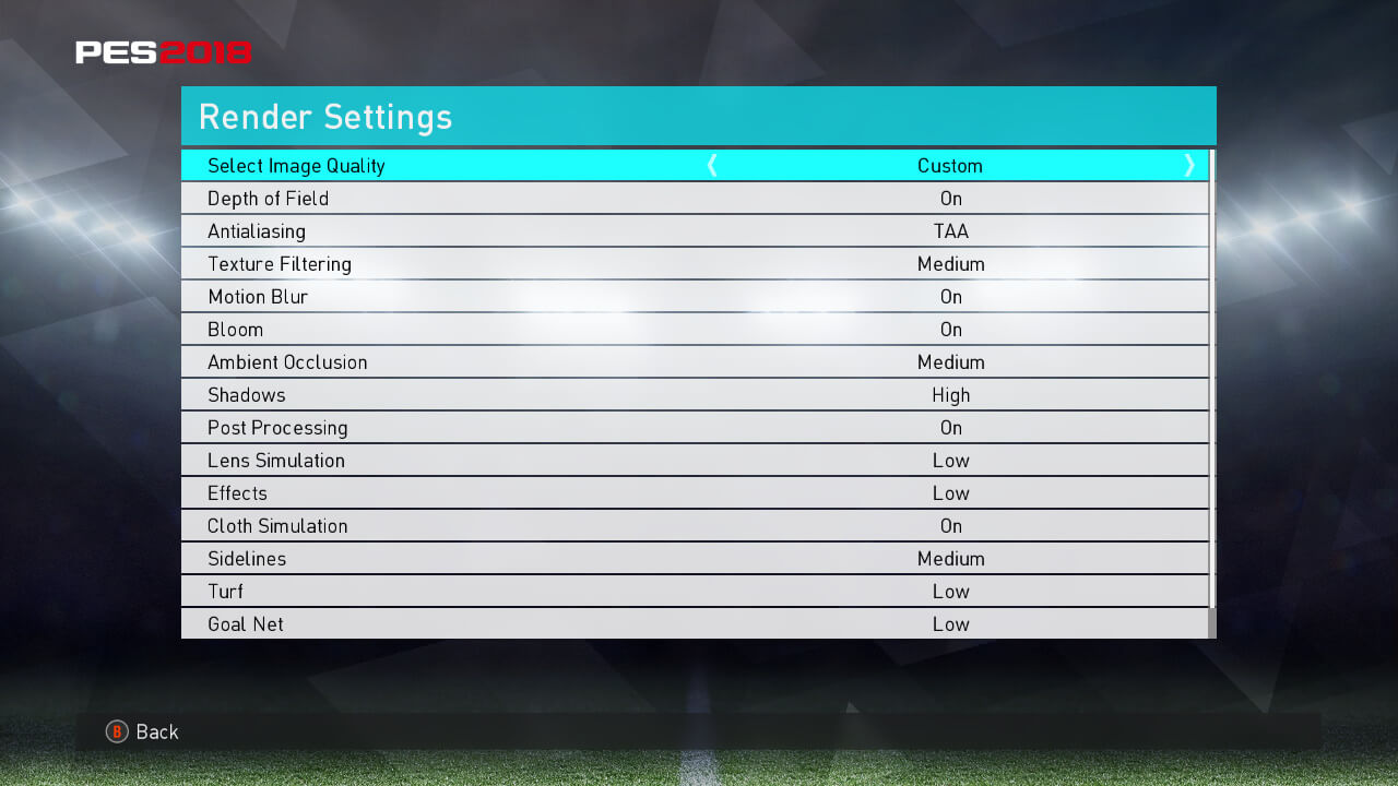 SETTING PES 2018 GET MORE FPS AND REDUCE LAG