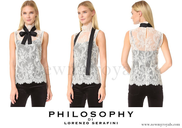 Lorenzo Serafini Sleeveless Lace Blouse