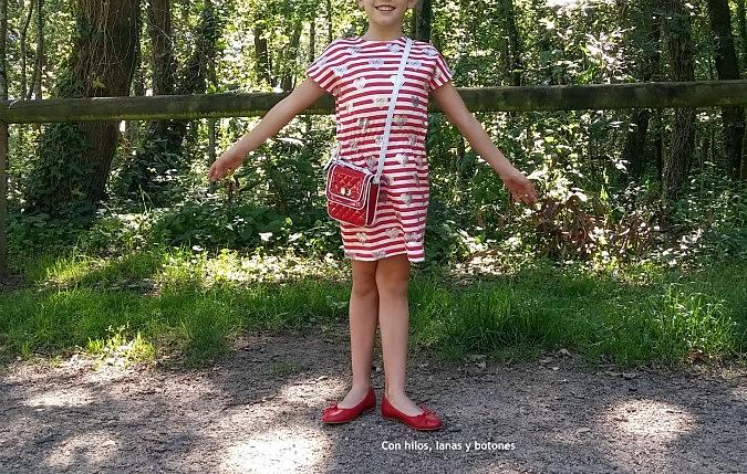 Con hilos, lanas y botones: Vestido trotero para niña