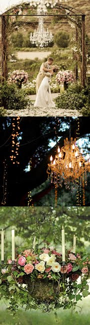 Chandeliers aren't just for inside anymore…