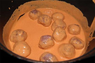 albóndigas en salsa de pimientos paso 3