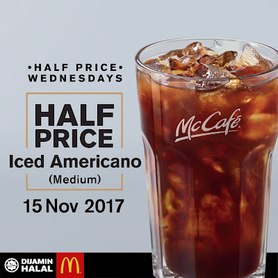 McCafe Iced Americano Half Price Wednesday