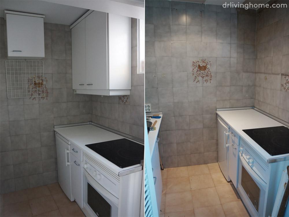 Quitar Azulejos Baño:Renovar la cocina sin obras II: cómo tapar azulejos paso a paso