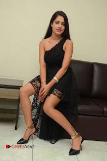 Telugu Cinema Actress Malvi Malra Pictures in Black Dress  0159.JPG