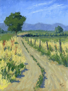 landscape painting country rural road farm ranch open land