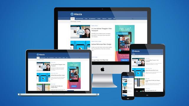 Template Alexia Bamz dan template blogger Premium Gratis