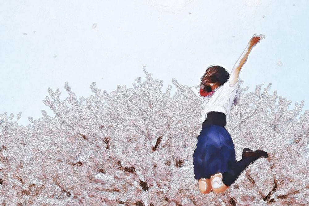 水彩画の女の子