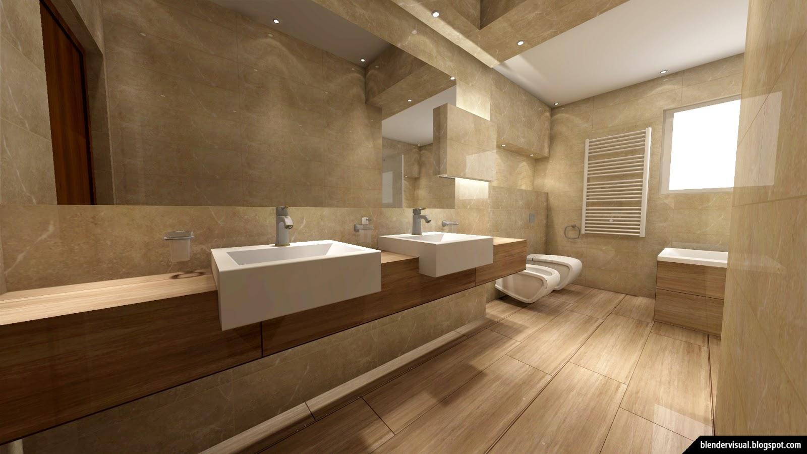 Visual blender daily render 003 beautiful designing for Bathroom remodel 10k