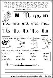 Livro famílias silábicas letra M