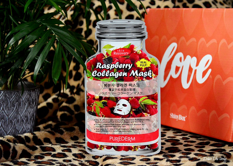 Purederm Raspberry Collagen Mask Maska do twarzy