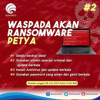 Waspada Virus Ransomware PETYA dan Cara mengantisipasi