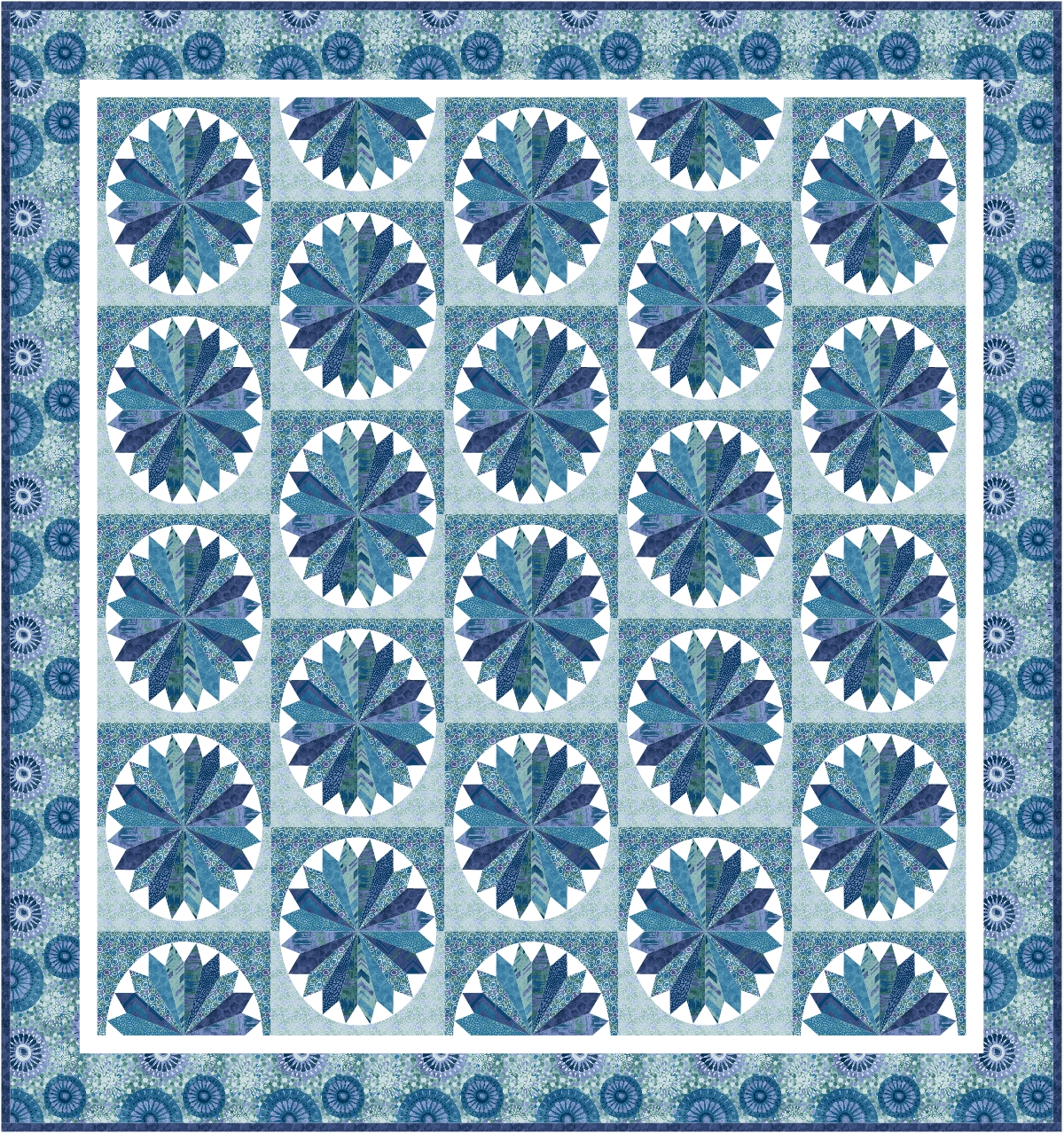 Pieced Brain: Tessellations Free Quilt Pattern