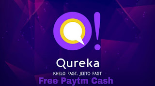 Qureka ! Live Trivia Game Show & Win Cash [ 100 -200 Rs. Paytm Winnings Daily + Refer & Earn 20 Rs. Per Refer. ]
