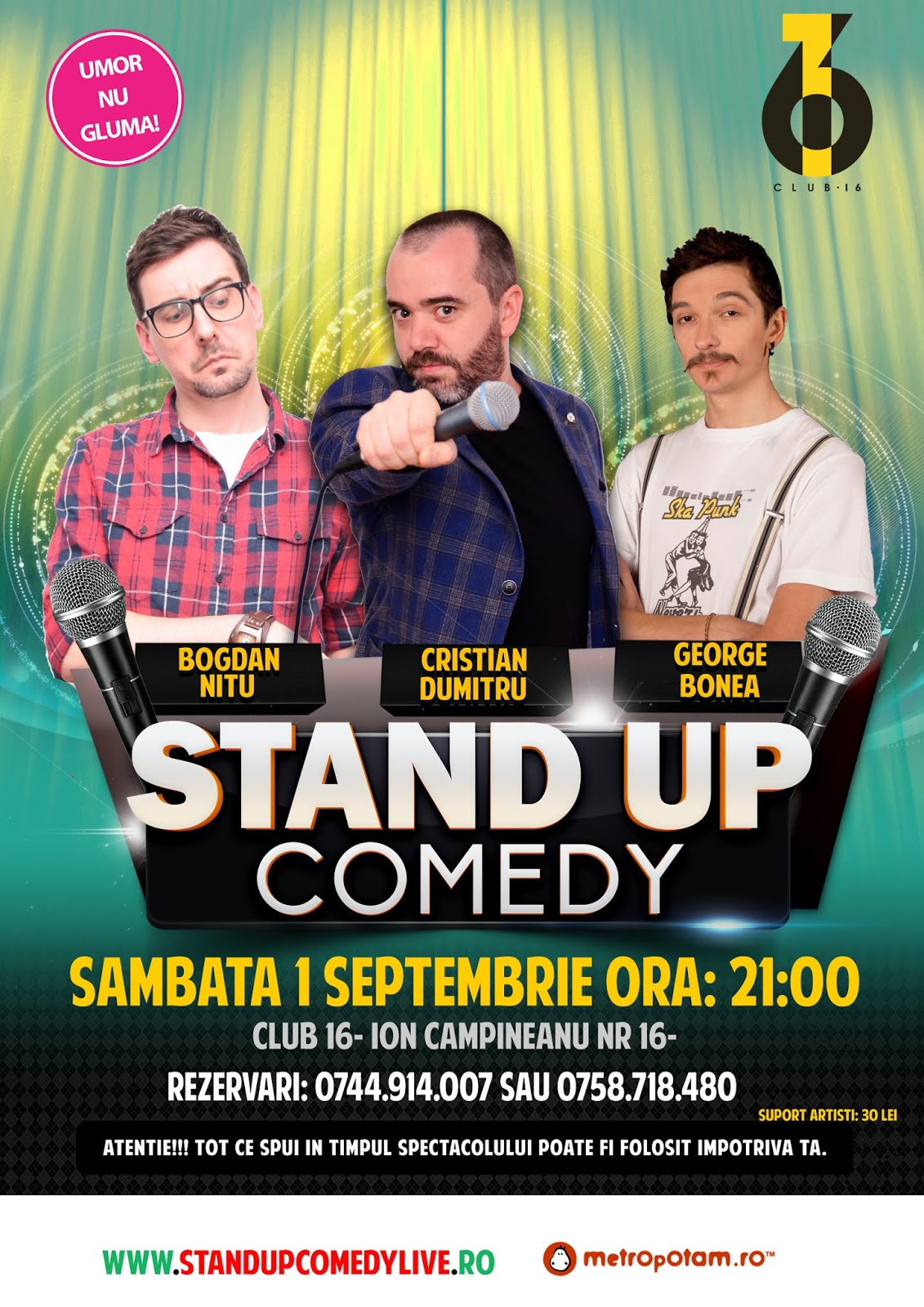 Stand-Up Comedy 1 Sept. Bucuresti