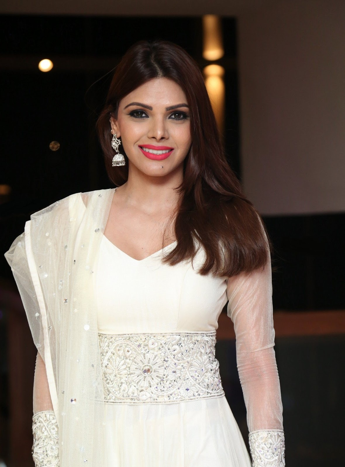 Sherlyn Chopra Looks Super Hot In White Dress At Dj Inayah -4364