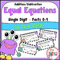 Simple addition and subtraction using equal equations