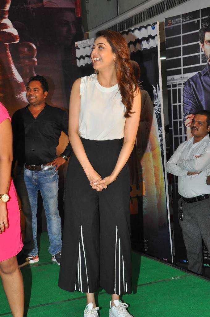 Kajal Aggarwal At Nene Raju Nene Mantri Movie Promotions
